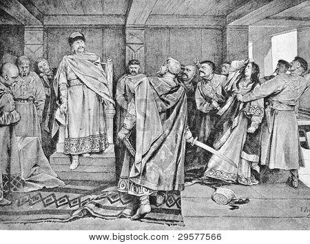 Galician boyars executed witch darling