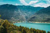 Verdon, Provence-alpes-cote Dazur, France. Landscape Of St Croix Lake In The Gorges Du Verdon In Sou poster