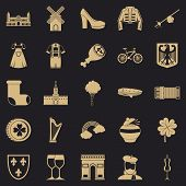 Excellent Wine Icons Set. Simple Set Of 25 Excellent Wine Vector Icons For Web For Any Design poster