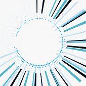 Abstract Circular Geometric Background. Circular Geometric Centric Motion Pattern. Starburst Dynamic poster