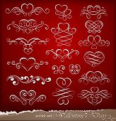 stock photo of tiara  - Decorative elements on Valentine - JPG
