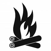 Bonfire Icon. Simple Illustration Of Bonfire Icon For Web poster