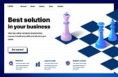 Website Providing The Service Of Best Solution In Your Business. Concept Of A Landing Page For Best  poster