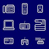 Symbole Computer Geräte