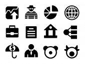 Conjunto de iconos de la pequeña empresa