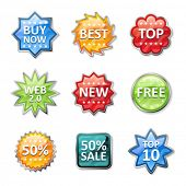 Badges and price tags, sale tags for your design v2.