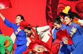 Chinese dancers at New Year Parade