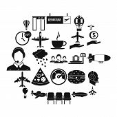 Vessel Icons Set. Simple Set Of 25 Vessel Icons For Web Isolated On White Background poster