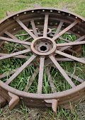Antique Metal Tractor Tires