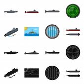 Vector Design Of War  And Ship Symbol. Set Of War  And Fleet Vector Icon For Stock. poster
