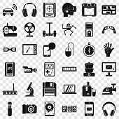 Good Device Icons Set. Simple Style Of 36 Good Device Vector Icons For Web For Any Design poster