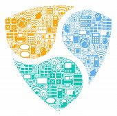 Nem Collage Icon Combined For Bigdata And Computing Illustrations. Vector Nem Mosaics Are United Fro poster