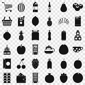 Beverage Icons Set. Simple Style Of 36 Beverage Icons For Web For Any Design poster