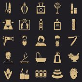 Cosmetology Icons Set. Simple Set Of 25 Cosmetology Icons For Web For Any Design poster
