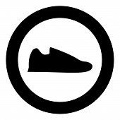 Running Shoes Sneakers Sport Shoes Run Shoe Icon In Circle Round Black Color Vector Illustration Fla poster