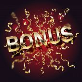 Bonus Casino Banner, First Deposit Bonus, Vector Illustration poster