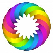 Rainbow Circle  Flower  Design