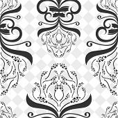 Seamless decorative flower pattern.