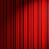red theater curtain side-light source