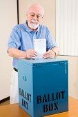 Election - Senior Man Casting Ballot