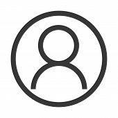 Account Icon Outline Vector Eps10. User Profile Sign Web Icon With Check Mark Glyph. User Authorized poster