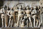 Castel Nuovo Detail  - Maschio Angioino - Naples,italy