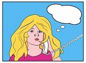 Sexy blonde calling