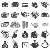 set of money icons