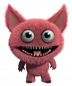 image of gremlins  - 3 d cartoon cute furry gremlin monster - JPG