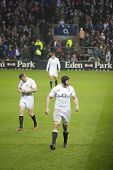 TWICKENHAM LONDON - NOVEMBER 23: English player Ben Morgan resets at England vs South Africa, Englan