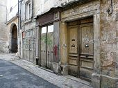 image of poitiers  - Old buildings on a street in Poitiers France - JPG