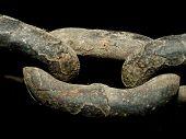 Antigua cadena de acero