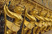 stock photo of garuda  - Golden garuda at Grand Palace - JPG