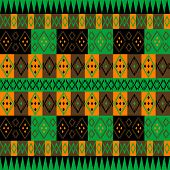 Green And Brown Ethnic Carpet