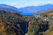 Kegon Falls And Lake Chuzenji In Nikko, Japan.