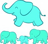 Elephant family cartoon