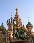 St Basil Cathedral And Minin & Pozharsky Monument poster