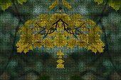 picture of gobelin  - Autumn leafs pattern - JPG