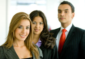 picture of latin people  - business people in an office smiling  - JPG