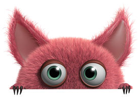 image of gremlins  - 3 d cartoon cute furry gremlin monster - JPG