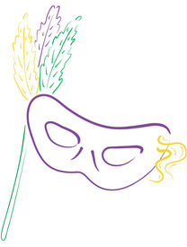 picture of mardi gras mask  - colorful mardi gras masks - JPG