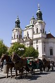 St. Nicolas Church On Old Town Square In Prague