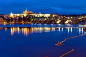 Beautiful Prague at night