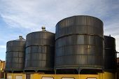 Wine Tanks In Warehouse