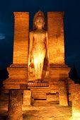 Sukhothai Historical Park At Night poster