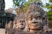 Angkor Thom South Gate Faces