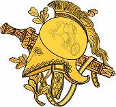 Helmet With Sword