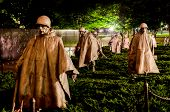 WASHINGTON, DC - AUGUST 10 2013 - Korean War Veterans Memorial shoot at night