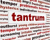 Tantrum emotional behavior concept