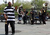New Orleans Jazz Band Man Singing